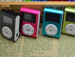 Compra Online Pantallas digitales-Mini clip reproductor de música mp3 con pantalla LCD de radio FM portátil digital
