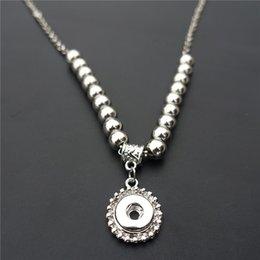Promotion lien pour perles Mode 50cm Chaîne de liaison en métal gingembre Perles Noosa morceaux 12mm Snap boutons Charms Pendentif Collier Femme Bijoux