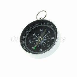 Wholesale Best Selling Portable Aluminum Navigation Compass with stainless steel keychain for Camping Hiking
