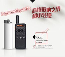 One piece HELIDA T-M2 radio super small portable professional FM transceiver walkie talkie two way radio 16 channel 400-520MHZ