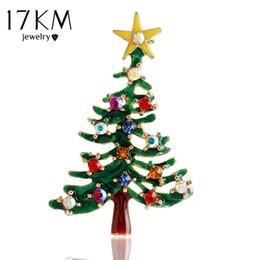 2017 mejores bufandas de moda Venta al por mayor- broches de la broche del árbol de Navidad 17KM broche de la bufanda del clip del collar del collar de la boda accesorios Broches de la joyería de la manera mejor regalo para las mujeres mejores bufandas de moda promoción