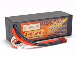 lipo battery factory RC Lithium polymer battery Vant Hard Case 22.2v 6s1p 4800mah 50C rc cars battery