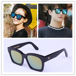 Wholesale Hot Sale V Gentle monster sunglasses THE ABSOLUTE II Vintage Female Oversized Sun Glasses Points Men Women Polarized oculo feminino
