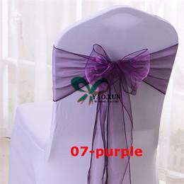 Hot Sale Organza Chair Bow Chair Sash For Wedding Chair Cover