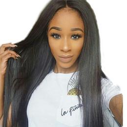2017 cordón lleno recta superior de seda Glueless Silk Top pelucas de cabello humano para las mujeres negras hindú de pelo recto de seda Base Lace Front peluca 130% Density Full Lace Wigs cordón lleno recta superior de seda outlet