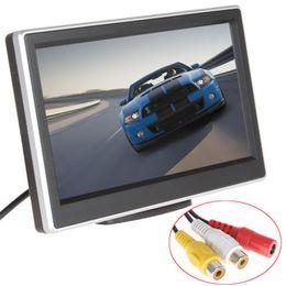 Lcd moniteur d'affichage vidéo en Ligne-2 voies Entrée vidéo 5 pouces TFT LCD 480 x 272 Définition numérique panneau couleur moniteur de voiture arrière pour caméra de recul