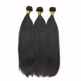 10Bundles lot Factory Wholesale Soft Brazilian Straight Hair Weaves 100 Human Remy Hair Extension 1B Natural Black Full Peruvian Virgin Hair