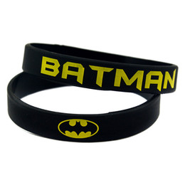 100PCS Lot Printed Batman Silicone Wristband Bracelet Perfect To Use In Any Benefits Gift For Anime Fans
