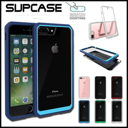 Wholesale Supcase Unicorn Beetle Hybrid Colorful Bumper Clear TPU PC Cover Case For iPhone S Plus Samsung S6 Edge Plus Note With Retail Box