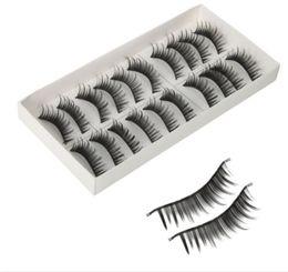 2017 New 10 Pairs Women Pro Makeup Thick Long False Fake Eyelashes Black P4