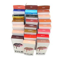 Wholesale 21 couleurs Kylie Jenner Lip Gloss Lipstick Boxset Rouge à lèvres Lipliner Kylie Jenner Matte Lipstick Cadeau de Noël
