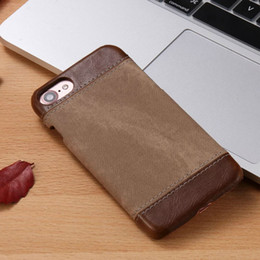 Stick PU Leather Denim Pattern Matte Case for Apple iPhone7 Business Hard Back Cover for iPhone 7 Plus Protective Phone Case for iPhone6Plus
