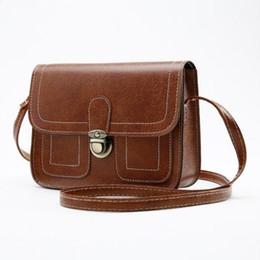 2017 Korean vintage shoulder inclined shoulder bag Simple messenger bag Fashionable mobile phone bag