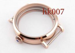 P170 Rose Gold 46mm Big Watch Sainless Steel Case 316L Fit Eta 6497 6498 Seagull st36 Movement