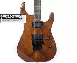 Descuento cuerdas custom shop Venta al por mayor - guitarras de China Custom Shop Maple veneer smoke color 6 String Electric Guitar LOGOTIPO exclusivo personalizable