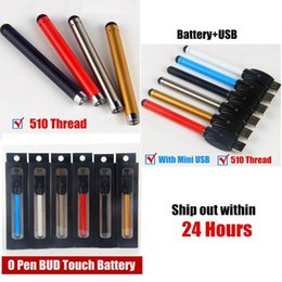 Colorful Bud Touch Battery 510 O Pen 280mah CE3 Cartridges Vape Wax Oil Tank With Mini USB Charger Blister Packing E Cigarette Vapor DHL