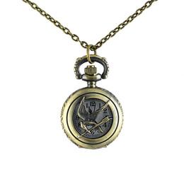 New Necklace hot sale Antique style lovely key design pocket watch