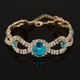 2017 Factory price Brand designer New hot sell Fashion Charm jewelry women wedding Austrian crystal Bracelet for wedding