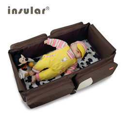 Wholesale Large Capaicty Baby Diaper Bag Mommy Bag 3 in1 Portable Baby Bed Foldable Baby Bed