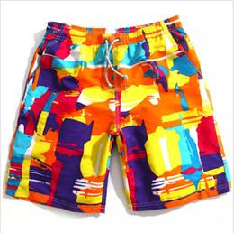 Wholesale New summer men s fashion swimming trunks sexy surt beach swimwear boxer board shorts sports suit men s swimwear flag