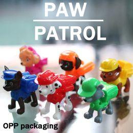 Wholesale paw dog patrol toys Mini Figures Set of Dog rescue team plastic dolls Rocky Zuma Skye Rubble Marshall Chase Opp packaging cm