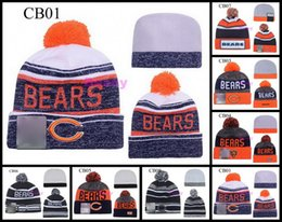 Wholesale 2017 Chicago Staleys American Football Team Beanies Winter Pom Wool Bears Knit Hats Men Women Jay Cutler Beanie Caps
