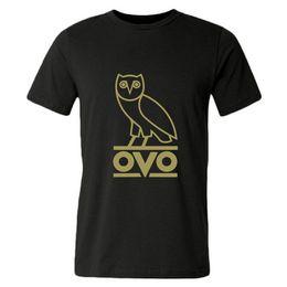 Wholesale Men Short Sleeve Ovo Bird Round Neck Cotton Leisure Sports T shirts