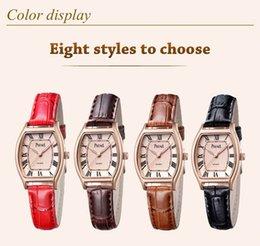 2016 Women Quartz Brand Lady Watches Women Luxury Rose Gold Antique Square Leather Dress Wrist watch Relogio Feminino Montre