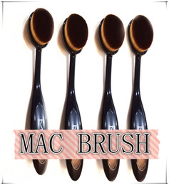 Wholesale Pro MC Soft Oval Toothbrush Makeup Brush Foundation Brushes Cream Contour Powder Blush Concealer Brush Makeup Tools Plastic Bag