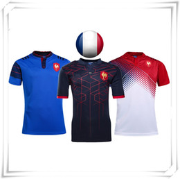 Promotion gros national 2017 Chaud Nouveau FRANCE NATIONAL TEAM AIG NRL Maillot de Football Rugby Français Angleterre Equipes Sport Hot Coming Vente en gros