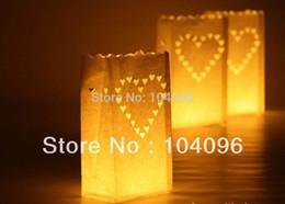 Sacs ignifuges en Ligne-Livraison gratuite Fireproof Paper Candle Bags lanternes pour mariage / anniversaire / fête / Noël / jour de valentine, sacs à bougie Luminary / 1