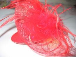 Womens Feather Fasinators hat hair clips Bows Veil Bow Feather Barrette 40pcs lot #1643 NON BRAND