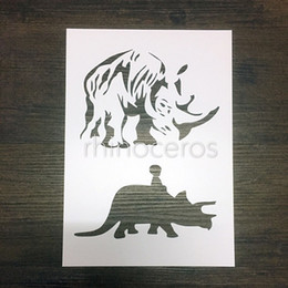 Reusable stencils children of rhino and kid Masking template For Scrapbooking,cardmaking,painting,DIY cards 326