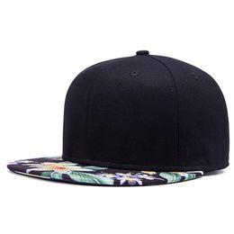 2017 NEW popular good quality Floral snap back baseball cap men fashion women hat flat Flower brimhip hop snapback cap