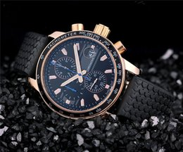 New style luxury stainless watches men quartz chronograph watch sport rubber band wrist watch 528