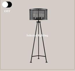 Wholesale Vintage Loft Floor Lamps E27 Edison Bulb Retro Floor Light Standing Desk lamp for Living room