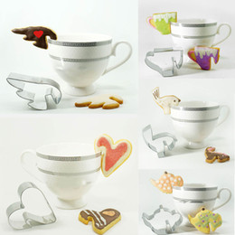 Wholesale 5pcs Wings heart gingerbread decoration teapot metal cookie cutter patisserie biscuit mold fondant cupcake pastry baking tools