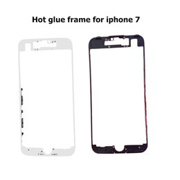 100pcs lot DHL For iPhone 5 5S 5C 6 6S 7 7 Plus Housing Front Bezel Frame Holder With hot glue adhesive Replacement