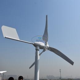 horizontal 500w 12v 24v 48v 50hz permanent magnet generator wind generator 3 blades with mppt hybrid controller