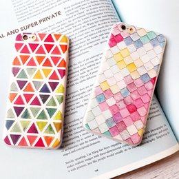 Wholesale Literature and art and pure and fresh apple s relief soft shell iphone6splus frosted tpu hang rope individuality creative lattice boom