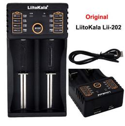 Liitokala Lii-202 18650 Charger 1.2V 3.7V 3.2V 3.85V AA   AAA 26650 10440 14500 16340 25500 NiMH lithium battery smart charger