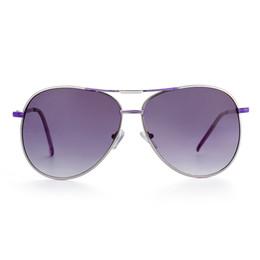 2017 gafas de sol púrpura Gafas de sol de la tendencia de la manera para las gafas de sol polarizadas oval de los hombres Púrpura brillante gradualmente UV400 gris con la caja GS83-2 del bolso del paño de los vidrios gafas de sol púrpura Rebaja