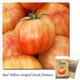 Vegetable seeds 50 pcs Heritage heirloom COPIA YELLOW RED STRIPE BEEFSTEAK tomato 50 Professional seeds-new packing!