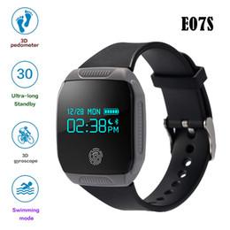 Mi bracelet de bande à vendre-Haute qualité E07S bracelet intelligent IP67 imperméable à l'eau avec affichage OLED Bluetooth 4.0 sport Smartband 6 axes G-capteur PK Xiaomi Mi bande 2