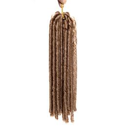 Rastas tejen en venta-18 inch 100g / pack falso locs crochet el pelo negro de los dreadlocks pelo sintético de la trenza del ganchillo La Habana Mambo Faux Locs que teje