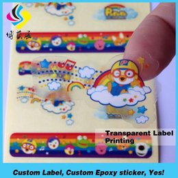 Customized transparent Vinyl stickers printing Waterproof vinyl sticker