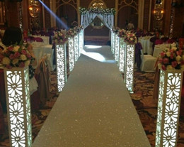 8pcs lot 115*20*20cm Fantasy Wedding Carved Pillar Banquet Road Lead Stand Decoration With LED Light Built-In
