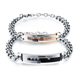 Creative all-match Rose Gold Titanium on Korean men and women couple Bracelet a Valentine's Day gift students personality