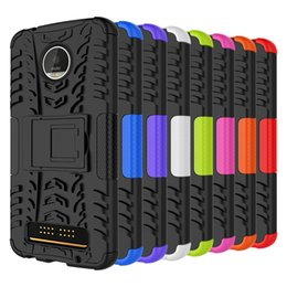 for MOTOROLA MOTO G6 Z Force Z3 play MOTO Z G4 G4 Plus Hybrid KickStand Impact Rugged Heavy Duty TPU+PC Shock Proof case Cover 160pcs