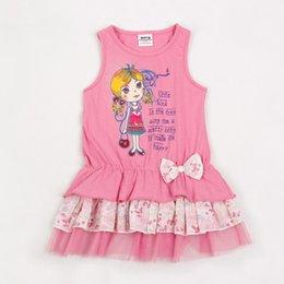 2017 Summer New Fashion Cute Girl Bobbi Robe en coton pour enfant Baby Sling Skirt Princesse pour enfant sans manches à partir de robe princesse fronde fabricateur